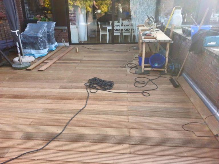 stöffges_Terrassensanierung Bangkirai in Herstellung